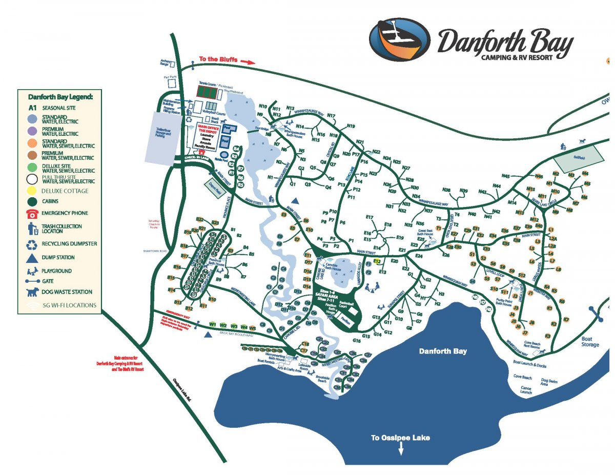 Danforth Resort Map Danforth Bay
